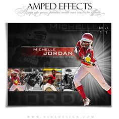 """Perfect for any sport, our """"Burst on the Scene"""" Amped Effects sports templates are easy to use and help photographers design sports posters. Photoshop Pics, Photoshop For Photographers, Photoshop Design, Photoshop Photography, Best Photographers, Photoshop Tutorial, Photoshop Actions, Photoshop Website, Photography Tips"""