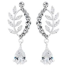 Alan Hannah Devoted Curved Leaf Drop Earring