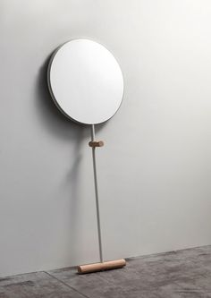 Giulietta is a minimalist design created by Italy-based designer Luis Arrivillaga. Giulietta is a floor standing mirror in a simple and effective elementary form, graphically displayed. Constructed of tubular steel powdercoated with solid wood details, the design gives the flexibility to be used in different areas within the house. It is also available in various colors. (3)