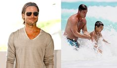 Brad Pitt en Cancún Brad Pitt, Mens Sunglasses, Marvel, Fashion, Celebrity Photos, Pretty People, Celebs, Moda, Fashion Styles