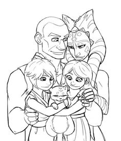 Ahsoka and Rex A Little Family