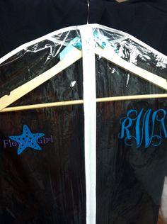 Bridal Party Garment Bag Beach Theme