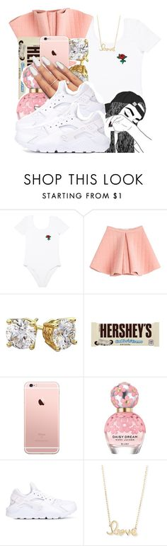 """""""Untitled #6"""" by onedea21 ❤ liked on Polyvore featuring Marina Hoermanseder, Hershey's, Marc Jacobs, NIKE and Sydney Evan"""