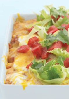 Santa Fe Enchilada Bake – What do you call a casserole filled with corn and chicken and fresh peppers layered with tortillas, salsa, sour cream, and cheese? Your next dinnertime fave, that's what!