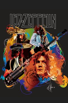 Image shared by Marceline. Find images and videos about led zeppelin, jimmy page and robert plant on We Heart It - the app to get lost in what you love. Led Zeppelin Poster, Led Zeppelin Art, Led Zeppelin T Shirt, Led Zeppelin Wallpaper, Rock And Roll, Pop Rock, Hard Rock, Rock Posters, Band Posters