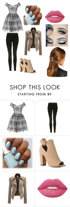 """""""Out on a date"""" by bluelover1803 on Polyvore featuring Alice + Olivia, Topshop, Lime Crime and Rosantica"""