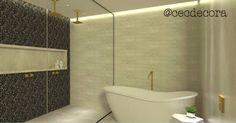 Banheiro maraaaavilhoso com parede de seixos preto e banheira @contatosabbia  #banheiro #bath #decor #decoration #homedesign #designdeinteriores #design #seixos #homedecor #cecdecora #sabbia #banheira #banheirosespetaculares by cecdecora http://discoverdmci.com