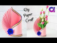Easy Paper Flower Vase | How to Make A Flower Vase At Home | Simple Paper Craft | Artkala - YouTube
