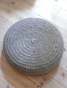 Crochet stool cover-silver gray by lacasadecoto on Etsy