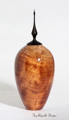 Wood Art -- Cherry Hollow Vessel.