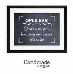 Good Make it your own with artisan-created wedding decorations and supplies from Handmade at . Open Bar Wedding, Diy Wedding, Wedding Gifts, Dream Wedding, Wedding Day, Wedding Cakes, Funny Wedding Signs, Wedding Humor, Party Planning