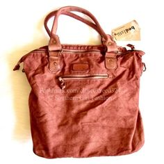 FREE PEOPLE Bag Distressed Canvas Leather Red Tote One Size.  New with tags.  $198 Retail + Tax.    Intentionally distressed canvas utility bag with hidden front zipper & leather detailing.  Long strap (inside of bag) is removable.  By Bed Stu for Free People.    ❗️ Please - no trades, PP, holds, or Modeling.    Bundle 2+ items for a 20% discount!    Stop by my closet for even more items from this brand!  ✔️ Items are priced to sell, however reasonable offers will be considered when…