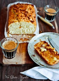 Toasted Coconut & Lime Bread @ Not Quite Nigella Coconut Bread Recipe, Coconut Recipes, Lemon Recipes, Banana Bread Recipes, Cake Recipes, Love Eat, Love Food, Savoury French Toast, Coconut Benefits