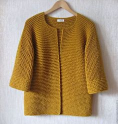 Koop of bestel kimono vest online . Knitted Baby Cardigan, Crochet Jacket, Hand Knitted Sweaters, Knit Jacket, Knit Crochet, Kimono Cardigan, Knitting Stitches, Knitting Designs, Baby Knitting