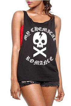 My Chemical Romance Skull Sideless Tank Top