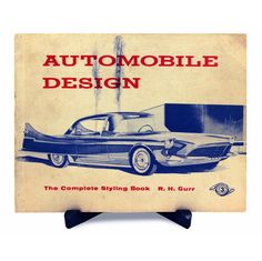 Bob Gurr signed automobile design book.