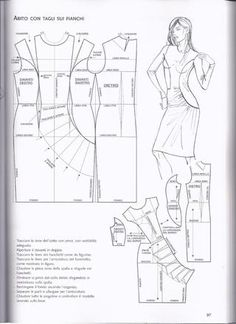 Dress with ruffles Easy Sewing Patterns, Vintage Patterns, Clothing Patterns, Dress Patterns, Pattern Cutting, Pattern Making, Sewing Clothes, Diy Clothes, Barbie Vintage