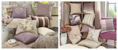 Indulge in striking style with cosy cushions. Accentuate your decor with sofa & large scatter cushions. Pink Cushions, Cosy, Mauve, Lilac, Dining Room, Throw Pillows, Bedroom Ideas, Inspiration, Furniture