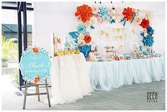 Beautiful birthday party was made by us #GEEKsg the paperflowers, the color, desserts...vv they're all looked so #gorgeous #birthdaydecoration #birthdayparty #partydecor #partyideas #backdrop #paperflowers #handmade #paper #flowers #orange #happybirthday #desserttable #cake #beautiful #6th #princess #lovely #babygirl #paperflowersbackdrop #saigon #trangtri #sinhnhat