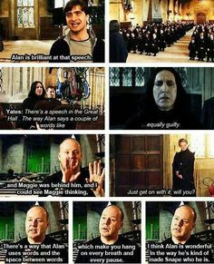Snape's pauses.