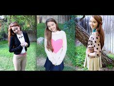 5 Back-to-School/Work Uniform Outfit Ideas!  *wear a sweater over a collared tee, *accessories of choice,  * headbands can add color to the outfit  * add sacrves to outfit