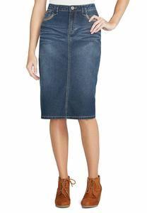 Cato Fashions Crystal Embellished Denim Skirt - Plus ...