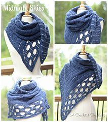 """""""Northern Skies"""" Convertible Scarf & Wrap Crochet Pattern by A Crocheted…"""