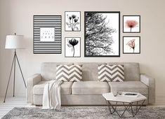 Conjunto com 6 quadros Decorativos com moldura Interior Design Living Room, Living Room Designs, Living Room Decor, My Room, Beautiful Homes, Wall Decor, Wall Art, Sweet Home, Gallery Wall