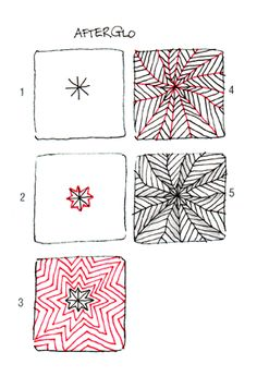 Afterglo by my friend and Certified Zentangle Teacher Carole Ohl