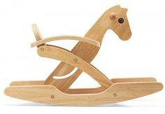 Tori Foldable Rocking Horse by Plan Toys via apartmenttherapy: Every parent should be conscious of what you're bringing into your home for your kids to play with, but if you live in a small home the size of a toy can be a deal breaker. Mostly, I limit the sheer number of toys we have but another strategy I employ is to look for toys that store easily. Does it fold up to a smaller size? Can I tuck it in the closet or on top of our wardrobe? Suddenly a tricycle in a small apartment seems…