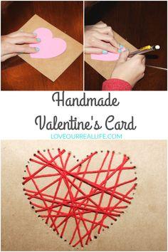 Valentine's Day, Valentine's card, Handmade Valentine's Card