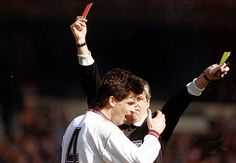 In the 1991 FA Cup semi-final, West Ham's Tony Gale was sent-off by referee Keith Hackett after just 22 minutes of the match with Nottingham Forest. The 10 men kept it goal-less til half-time but Forest ended up comfortable 4-0 winners. It was West Ham's third semi-final defeat in as many years. Luton Town had booted West Ham out of the League Cup semis in 1988-89 with a 5-0 aggregate win and Oldham did the same in 1989-90, 6-3 on aggregate
