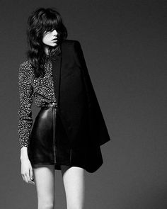 grace hartzel by hedi slimane for saint laurent prefall 2014