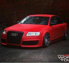 A beautiful matte red Audi - Cars and motor Red Audi, Black Audi, Allroad Audi, Audi A6 Quattro, Audi S6, Porsche 991, Matte Red, Audi Cars, Car Girls