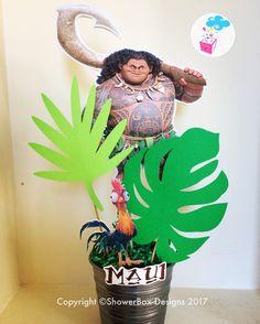 Moana Birthday Centerpiece ShowerBox Events Like us on FB #moanabirthday #myshowerbox