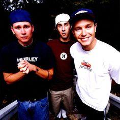 Tom DeLonge, Travis Barker, and Mark Hoppus Great Bands, Cool Bands, Tom Delonge, Travis Barker, Pop Rock, Blink 182, My Favorite Music, Music Lyrics, Music Is Life