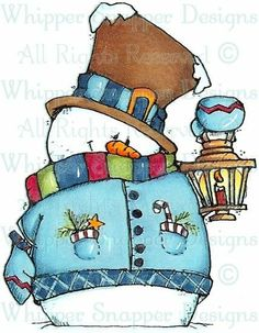 Whipper Snapper Designs is an expansive online store selling a large variety of unique rubber stamp designs. Christmas Templates, Christmas Clipart, Christmas Pictures, Christmas Snowman, Winter Christmas, Christmas Crafts, Frosty The Snowmen, Cute Snowman, Snowman Crafts
