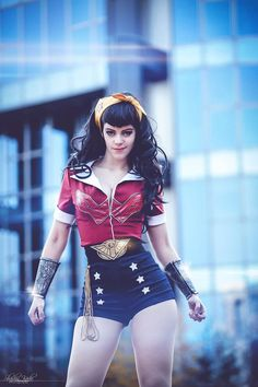 """kamikame-cosplay: """"Wonder Woman cosplay by LucioleS Cosplay Version: Bombshell By Ant Lucia Photo by Shashin kaihi Photography """" Dc Cosplay, Best Cosplay, Cosplay Girls, Mode Costume, Grunge, Wonder Woman Cosplay, Hipster, Amazing Cosplay, Halloween Cosplay"""