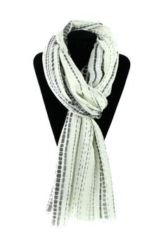 lightweight patterned scarf