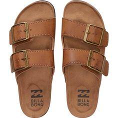 Billabong Women's Beachy Dunes Sandals (£21) ❤ liked on Polyvore featuring shoes, sandals, flats, desert daze, footwear, slip-on shoes, billabong, beach shoes, flat pump shoes and hippie shoes