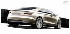 Audi A3 e-tron Concept Design Sketch