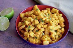 Curry lime roasted sweet potatoes