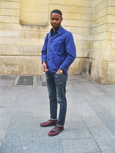 Canvas bag parisian effortless chic-bleu de travail-french work jacket