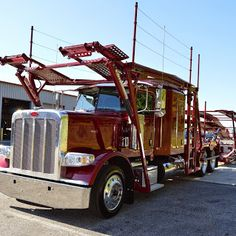 Cottrell/Peterbilt custom paint #carhauler waiting for you to ...