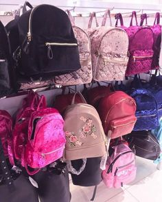 Rach wants to buy.Velvet and leather backpacks – Just Trendy Girls Cute Mini Backpacks, Stylish Backpacks, Girl Backpacks, Leather Backpacks, Fashion Bags, Fashion Backpack, 90s Fashion, Back Bag, Girls Bags