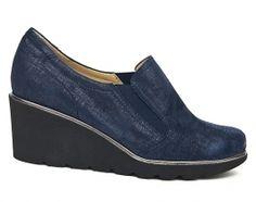 Nora's Shoe Shop : Brunate '60205' wedge in navy