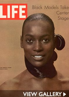 """Naomi Sims, considered the """"first black supermodel"""" for appearing on the cover of Ladies Home Journal in November 1968, Life in 1969, Sims' career included modeling for leading designers like Halston and Giorgio di Sant'Angelo, as well as create a multimillion-dollar hair extensions line."""