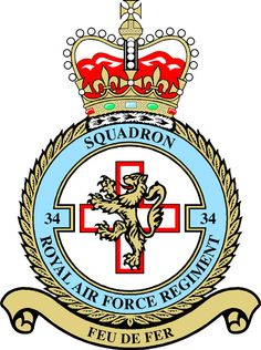 Sq RAF Regiment was formed on 27 August 1951 at RAF Yatesbury in the Low… Military Cap, Military Insignia, Royal Air Force, Armored Vehicles, Military Aircraft, Armed Forces, Badges, Patches, British