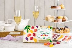Its always the perfect time for a tea party! Set up your own spread with tarts, macarons, and cupcakes. Our beautiful Fruitfull box will fit right in! Macarons, Tarts, Tea Party, Summertime, Cupcakes, Table Decorations, Box, Beautiful, Home Decor