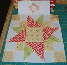 {Sisters and Quilters}: Key Lime Pie - Block 9 This is an awesome site for quilt patterns, ideas, and info! Quilting Tutorials, Quilting Projects, Quilting Designs, Quilt Design, Quilting Ideas, Diy Projects, Quilt Blocks Easy, Quilt Block Patterns, Star Blocks